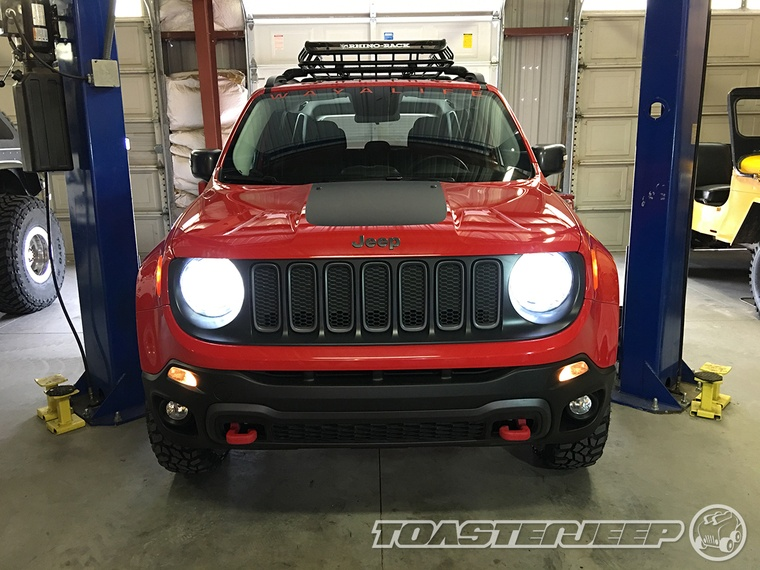 led's installed into jeep