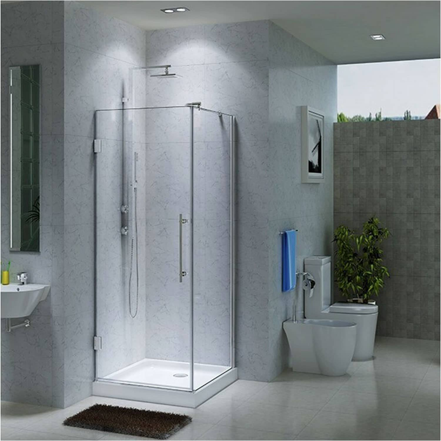 corner shower stalls. Best Shower Enclosure Kits Corner Stalls L