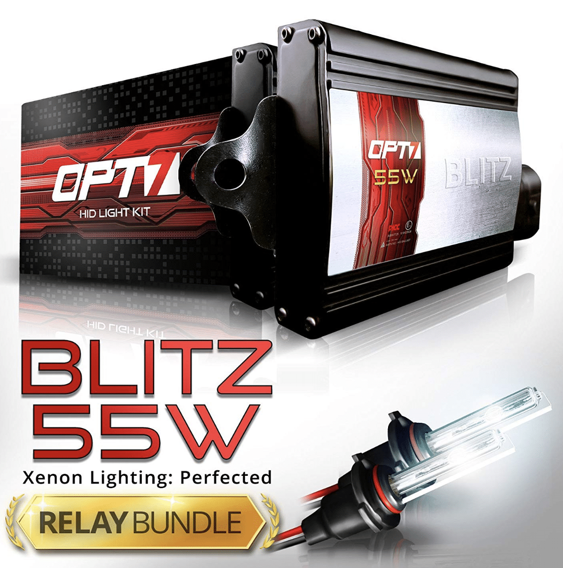 OPT7 Blitz 55w Hi Power 9006 HID Kit