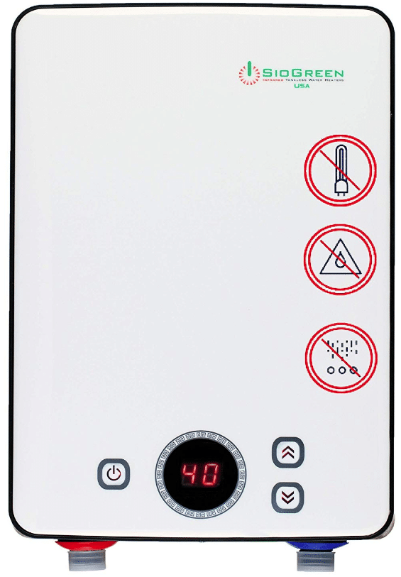 Sio Green IR260 POU Electric Tankless Water Heater - Infrared Tank-Less Instant Hot Water Heater