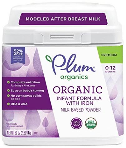 Organic Infant Formula with Iron