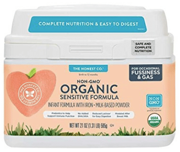 The Honest Co. Organic Non-GMO Sensitive Infant Formula for Occasional Fussiness & Gas