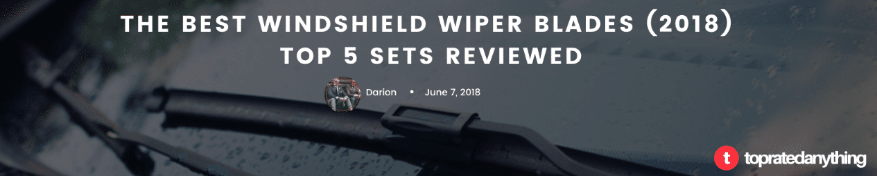 best windshield wiper blades 2019