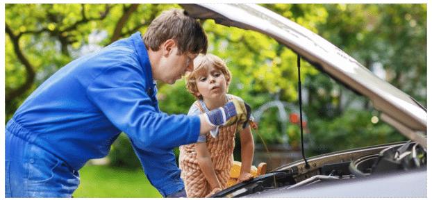 changing motor oil header