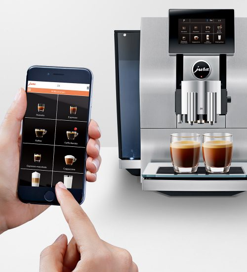 jura coffee app and coffee machine